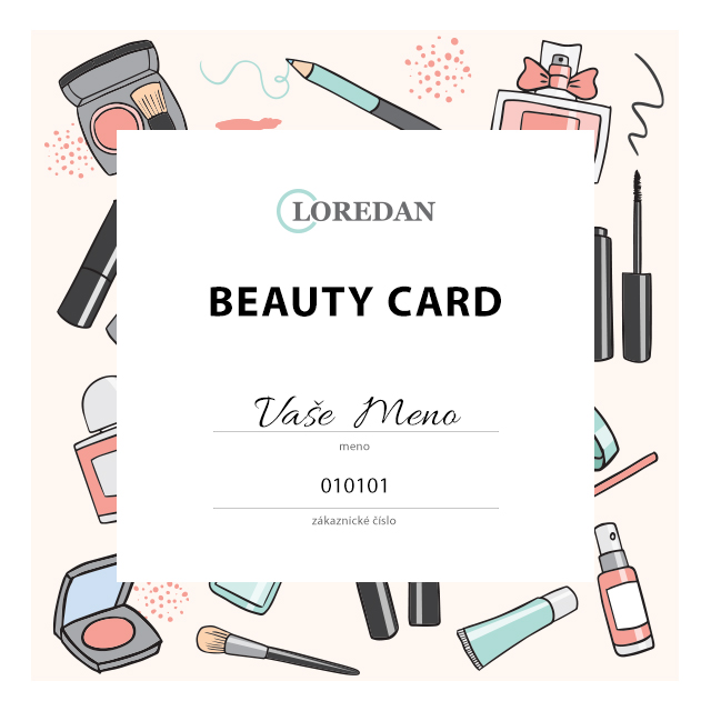 Beauty Card vzor